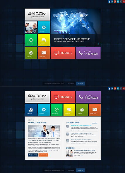 4 Communication - HTML5 templates