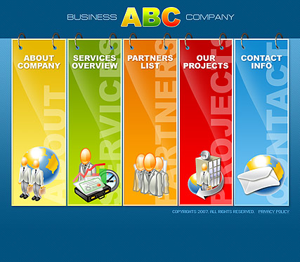 ABC Business - Flash template