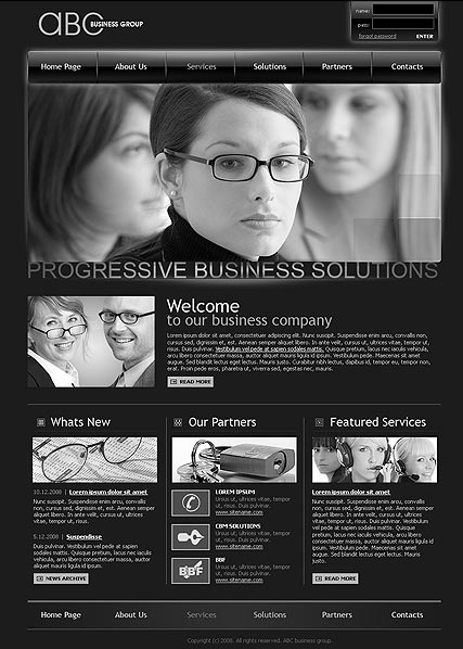 ABC business - HTML template