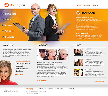 Active Group - HTML template