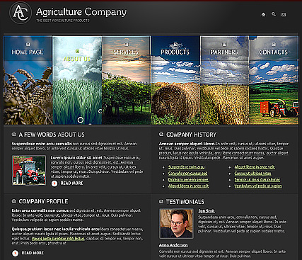 Agricultura - Website template
