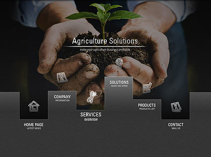 Agriculture Solutions - Easy flash templates