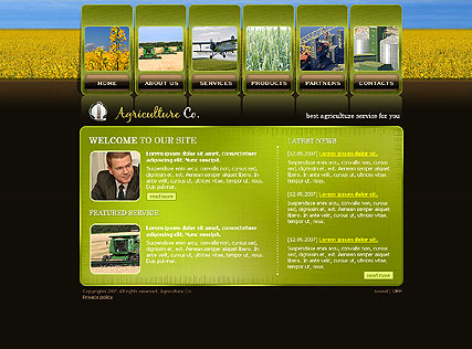 Agriculture - Flash template