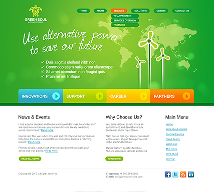 Alternative power v2.5 - Joomla templates
