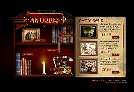 Antiques - Flash template