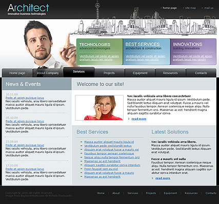 Architect - Website template