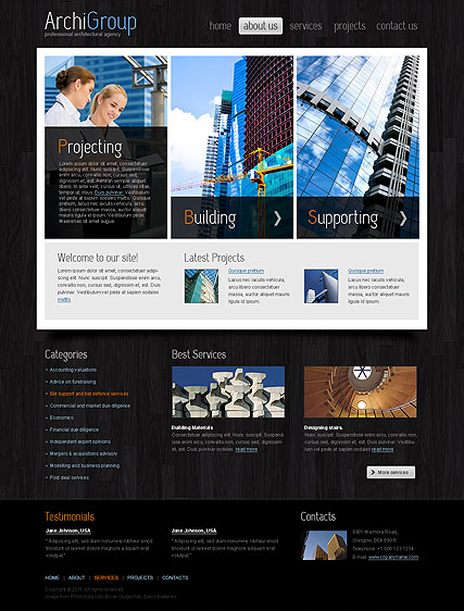 Architecture Design - HTML template