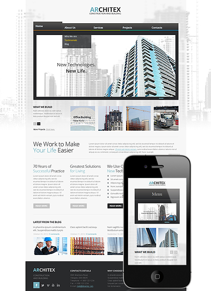 Architecture - Wordpress templates