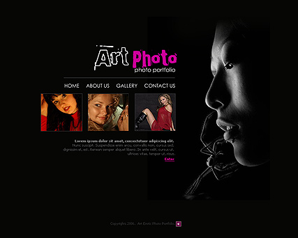 Art photo - Flash template