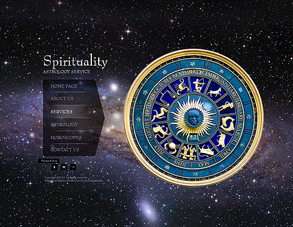 Spiritual website templates astrology easy flash templates toneelgroepblik Image collections