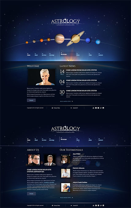 Astrology - HTML5 templates