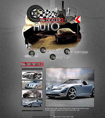 Auto dealer - Flash template