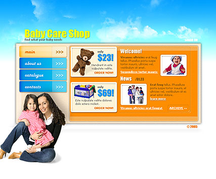 BabyCare shop - Flash template