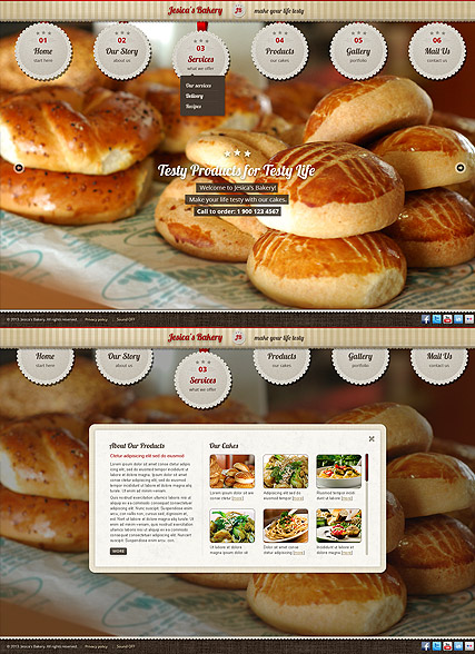 Free Cake Website Templates. cake delights free website template ...