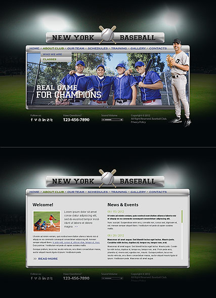 Baseball Club - HTML5 templates