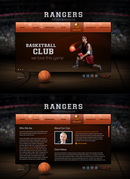 Basketball Club - HTML5 templates