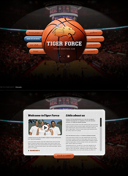Basketball Game - HTML5 templates