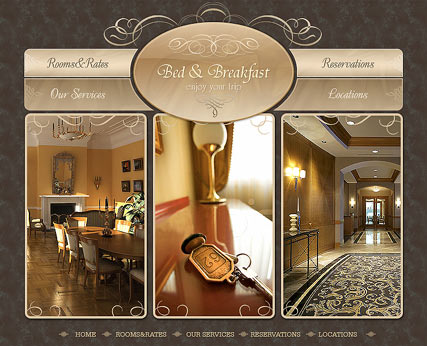 Bed and Breakfast - Flash template