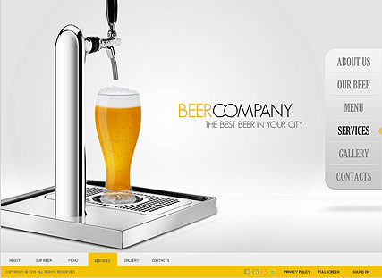 Beer Company - Easy flash templates