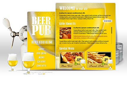 Beer Pub - Flash template