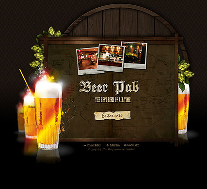 Beer Pub - Easy flash templates
