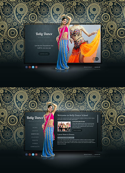 Belly Dance - HTML5 templates