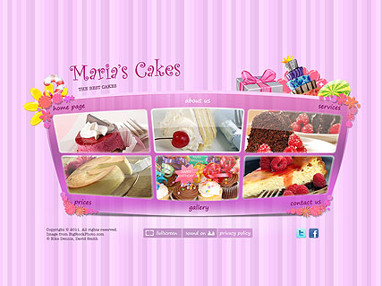 Best Cakes - Easy flash templates