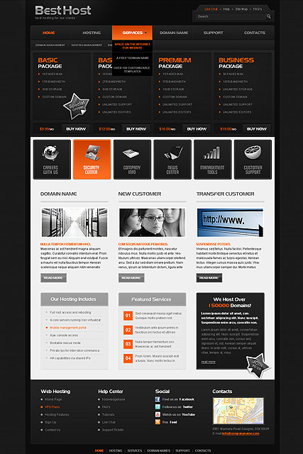 Best Hosting - HTML template