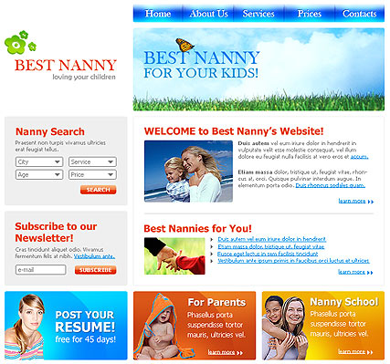 Best Nanny - Website template