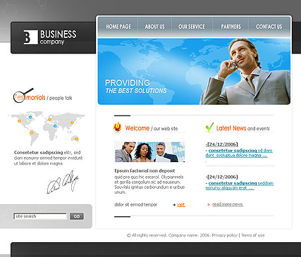 Best business - Flash template