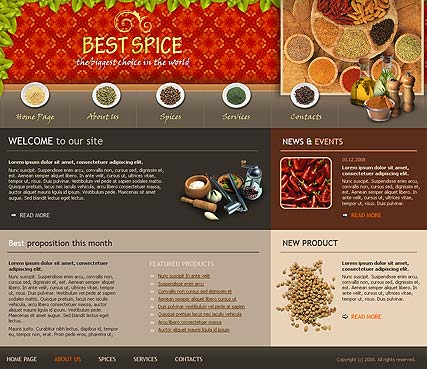 Best spices - Website template