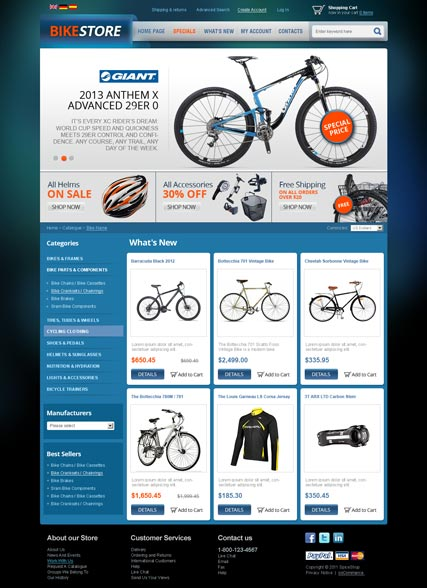 Bike Store v2.3 - osCommerce