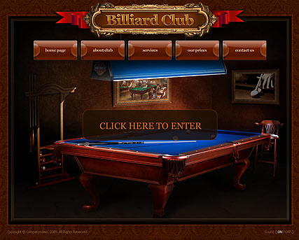 Billiard Club - Easy flash templates
