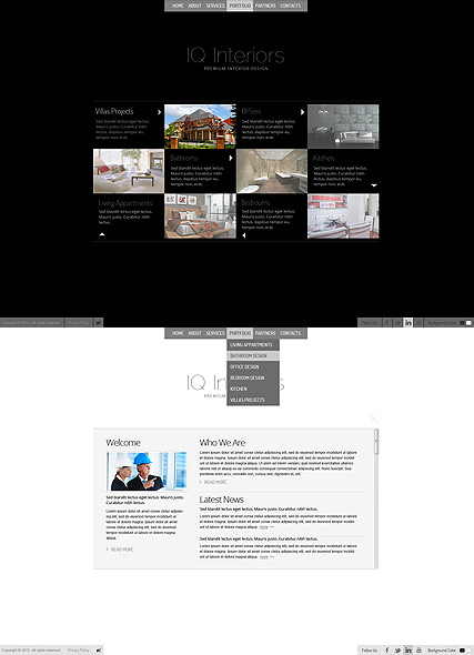 Black White Interior - HTML5 templates