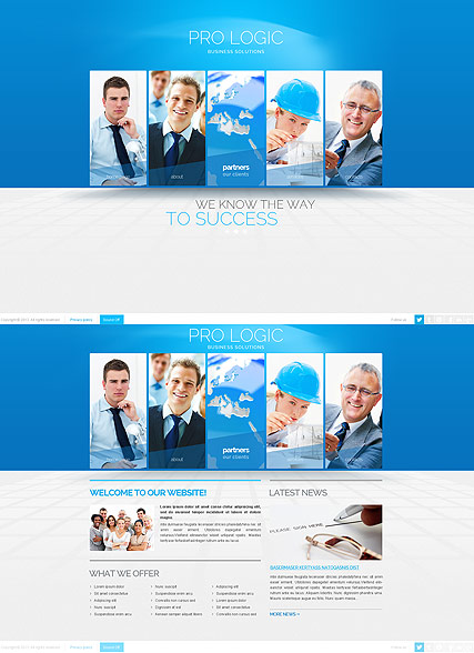 Blue Business - HTML5 templates