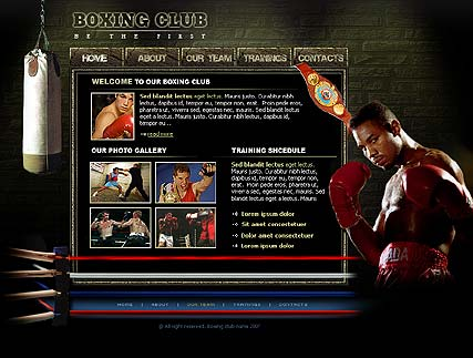 Boxing Club - Flash template