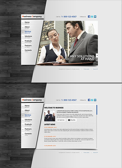 Business Area - HTML5 templates