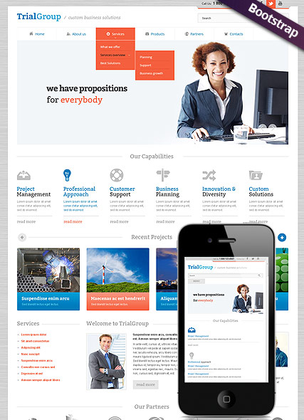 Business Company - HTML template