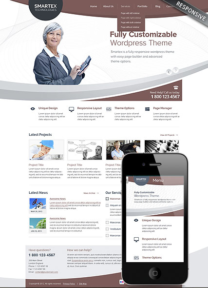 Business Corp - Wordpress templates