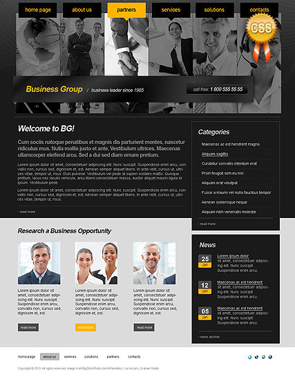 Business Group - HTML template
