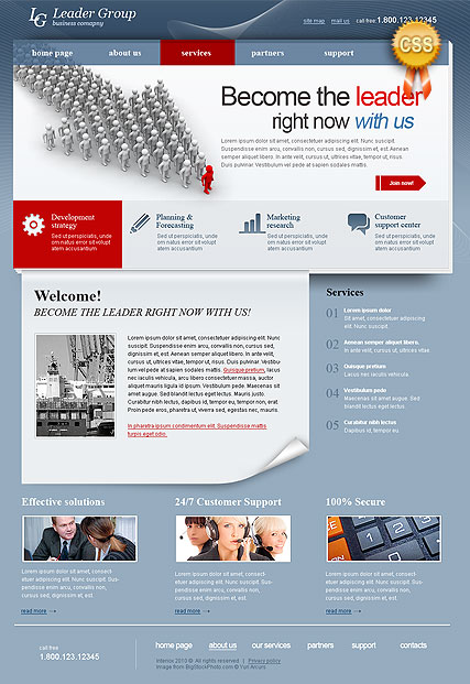 Business Leader - HTML template