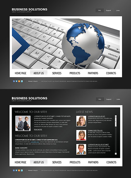 Business Solutions - HTML5 templates