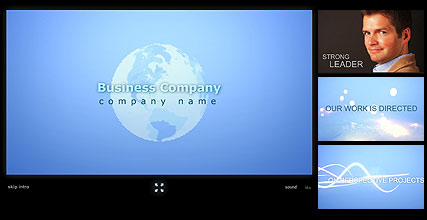 Business Team - Flash intro template