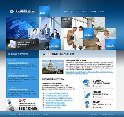Business co - Website template