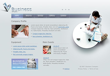 Business company - Flash template