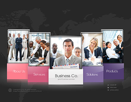 Business company - Easy flash templates