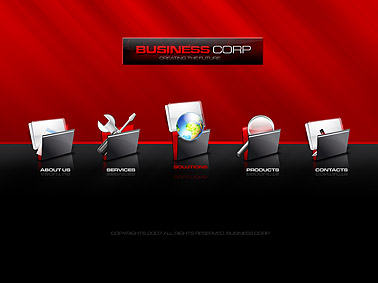 Business corp. - Flash template