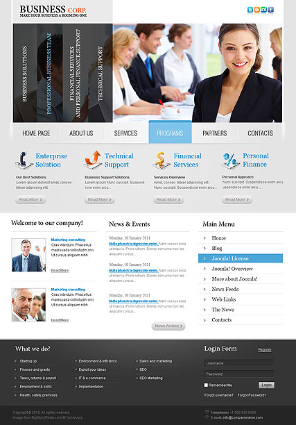 Business v2.5 - Joomla templates