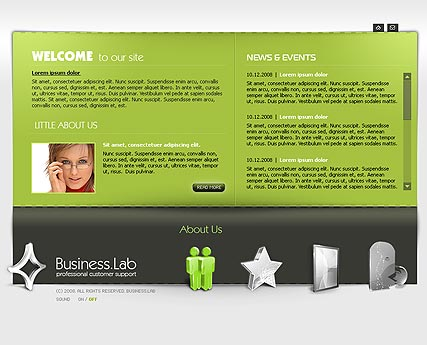 Business - Easy flash templates