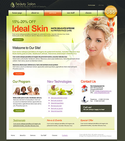 CSS Beauty - HTML template